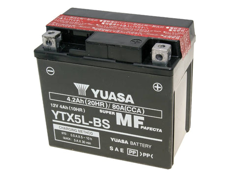 battery Yuasa YTX5L-BS DRY MF maintenance free
