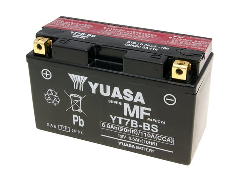 battery Yuasa YT7B-BS DRY MF maintenance free