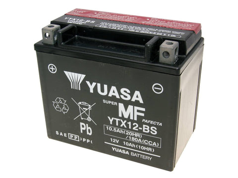 battery Yuasa YTX12-BS DRY MF maintenance free