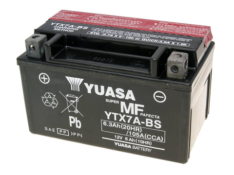 battery Yuasa YTX7A-BS DRY MF maintenance free