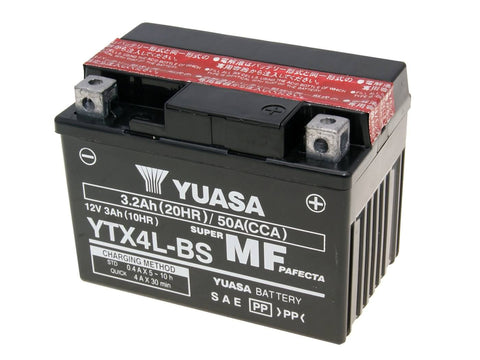 battery Yuasa YTX4L-BS DRY MF maintenance free