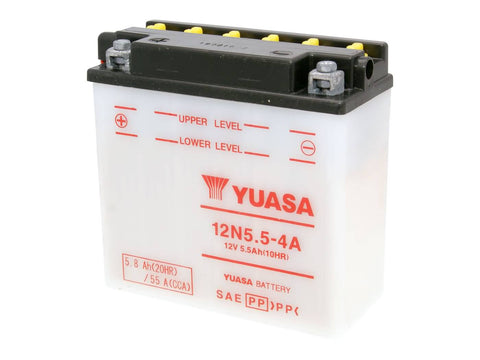battery Yuasa 12N5.5-4A w/o acid pack