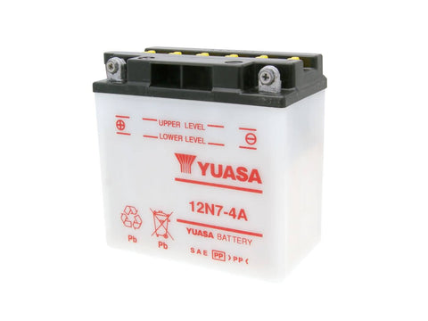 battery Yuasa 12N7-4A w/o acid pack