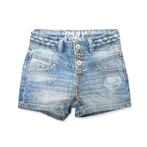"GIRl'S 4"" BUTTON-FLY DENIM SHORT 