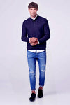 MEN'S SLIM FIT HENLEY JUMPER | ESPRIT