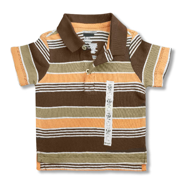BOY'S 4 COLOR STRIPE POLO | ON-(6M-5Y)
