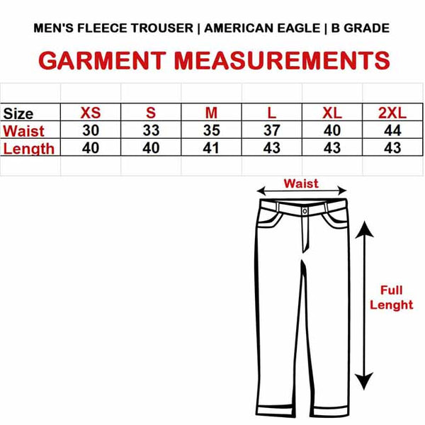 MEN'S FLEECE TROUSER  | AMERICAN EAGLE | B GRADE