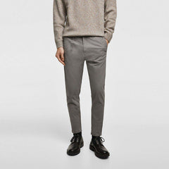 MEN'S EXCLUSIVE 'SKINNY FIT' STRETCH COTTON PANT| ZARA