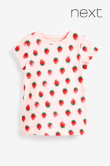 GIRL'S STRAWBERRY PRINTED T-SHIRT |NEXT-(3Y-11Y)