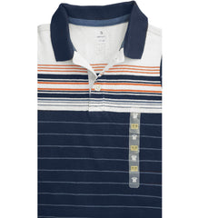 BOYS NAVY STRIPE POLO | ON-(6M-5Y)