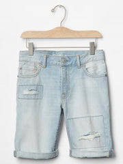 1969 DESTRUCTED DENIM SHORTS (4YRS-18YRS)