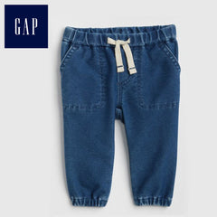 BOY'S PULL ON DENIM JOGGERS | GAP-(0M-2Y)