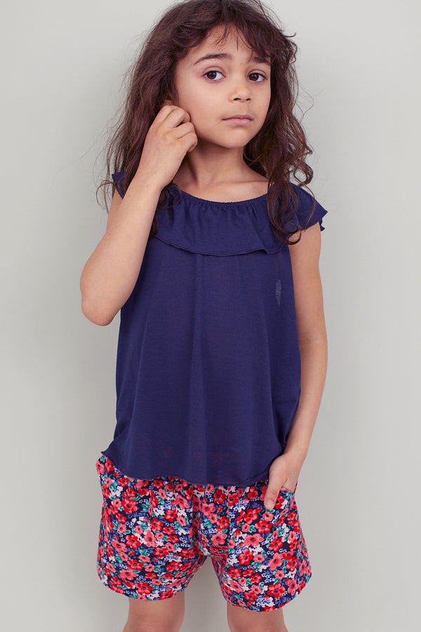 GIRL'S RUFFLED NECK DRESS| H&M-(1Y-10Y)