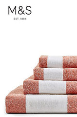 WIDE STRIPED TOWEL BATH TOWEL | M&S HOME