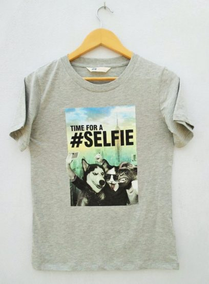 BOYS TIME FOR SELFIE TEE BY H&M(10-14YRS)