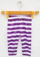 GIRL'S PURPLE STRIPPER  TROUSER | MARKHOR