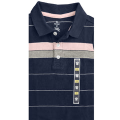 BOY'S NAVY STRIPE POLO | ON-(12M-5Y)