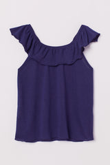GIRL'S RUFFLED NECK DRESS| H.M-(1Y-10Y)