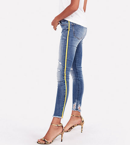 LADIES MID RISE SIDE STRIPE STRETCH | EXPRESS