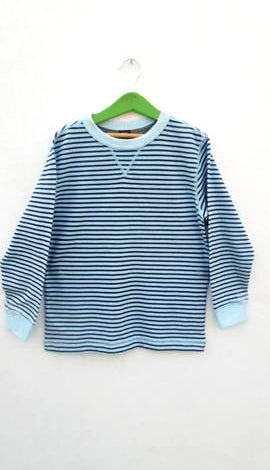 BOYS TEE F/S BY GAP (6-13YEARS) SKYBLUE -BLACK