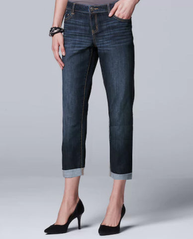 LADIES HIGH RISE STRETCH CAPRI-DARK BLUE| OLD NAVY
