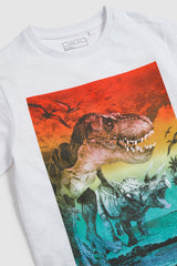 BOY'S SUNSET DINO T-SHIRT | NEXT-(7Y-11Y)