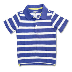 BOY'S BLUE STRIPE POLO | ON-(12M-5Y)