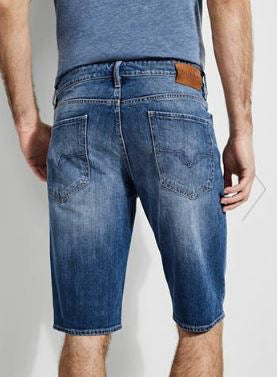 MEN'S REGULAR FADED DENIM SHORTS | GUESS