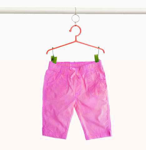 Girl's Pink Cotton Beach Capri | OVS(9M-36M)