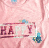 GIRL'S HAPPY REVERSE SEQUIN T_SHIRT | HAPPY KIDS-(7Y-12Y)