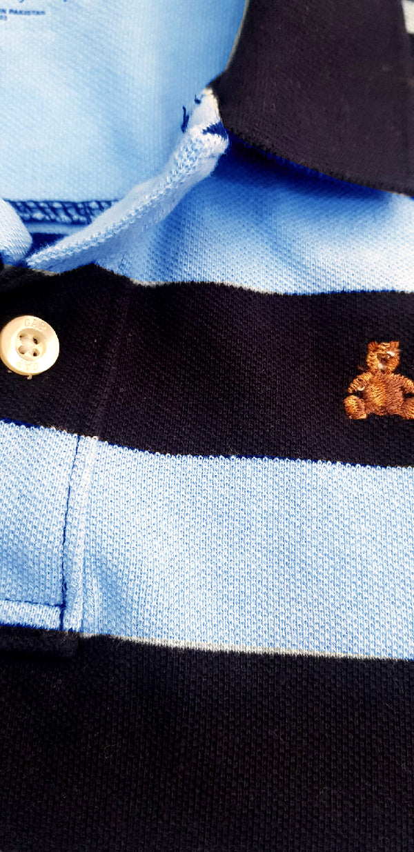 BOY'S STRIPPED PIQUE POLO | GAP-(6M-6Y)