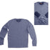 MEN'S ELBOW PATCH BLUE SWEATER | FOOT LOCKER