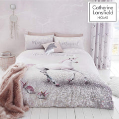 UNICORN EASY CARE SINGLE DUVET SET | CATHERINE LANSFIELD