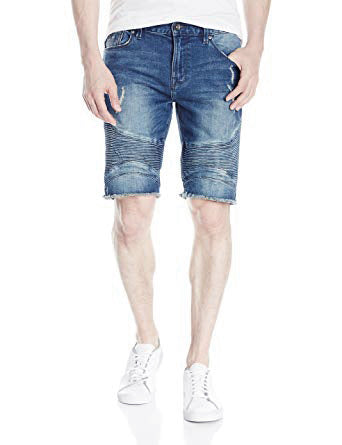 MEN'S RIPPED SLIM DENIM SHORTS | GUESS