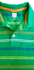 BOY'S MULTI STRIPED GREEN POLO | OLD NAVY-(12M-5Y)