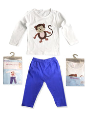 BOY''S MONKEY NIGHT SUITE SET | BABYBOW-(6M-3Y)