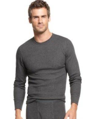 ALFANI MENS WAFFLE KNIT THERMAL LONG SLEEVE T SHIRT