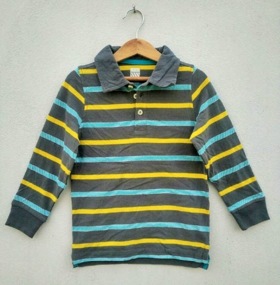 BOYS COOL STRIPES POLO BY OLD NAVY (2)YRS