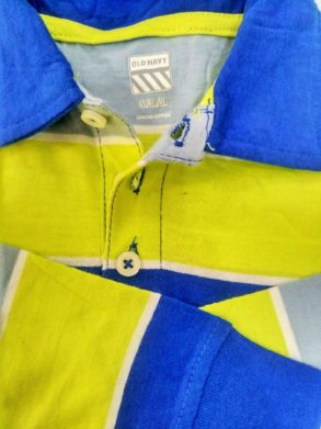 Boys Full Sleeve Lemon Blue Polo by Old Navy(12m-5yrs)