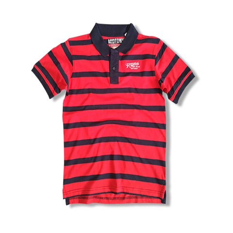 BOYS HOME STATE POLO BY C&A: RED/NAVY(2-16YRS)
