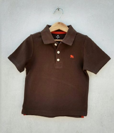 BOYS LION LOGO POLO BY OLD NAVY-BROWN (6-12M)