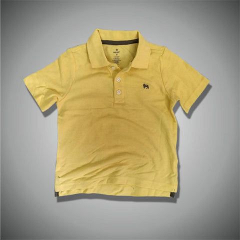 BOYS LION LOGO POLO BY OLD NAVY-YELLOW (12M-5YRS)