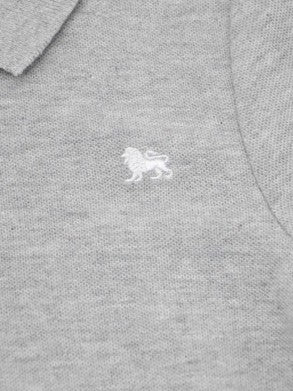BOYS LION LOGO POLO BY OLD NAVY- Grey (12M-5YRS)