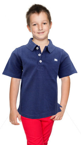 BOYS LION LOGO POLO BY OLD NAVY(12M-5YRS)