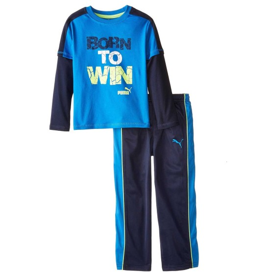 BOYS PUMA 2-PIECE SET BLUE (12M-4Y)