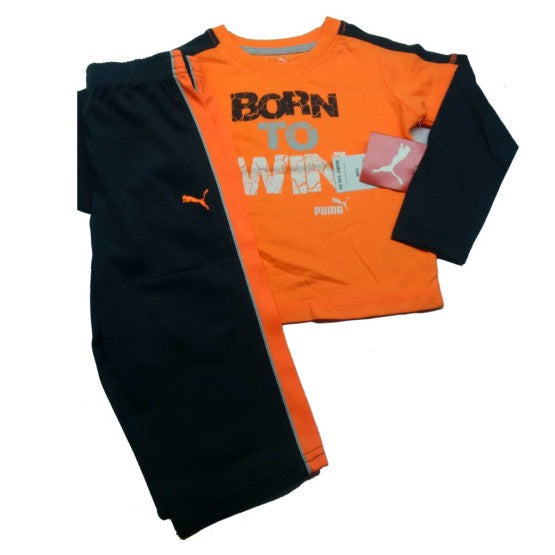 BOYS PUMA 2-PIECE SET ORANGE (12M-7Y)