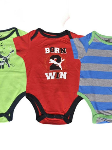 BOYS ROMPER PUMA 4 PACK OF 3