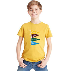 BOY'S A&F CHARGE THE FIELD TEE – YELLOW (10-16 YRS)