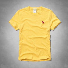 BOY'S A&F SIGNATURE EMBROIDERY TEE – (YELLOW)