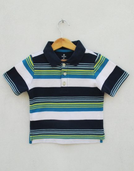 BOY'S YELLOW STRIPE-NAVY POLO BY ON